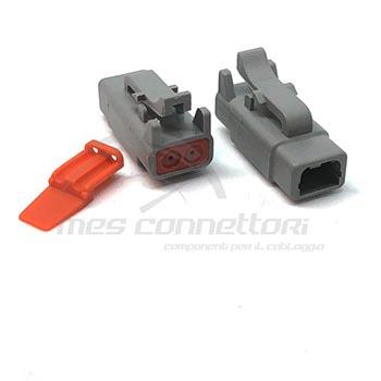 connettore serie ATM 2 vie p.f. con terminali e sec. lock