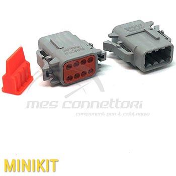 kit connettore serie ATM 8 vie p.f. con con terminali e  sec. lock