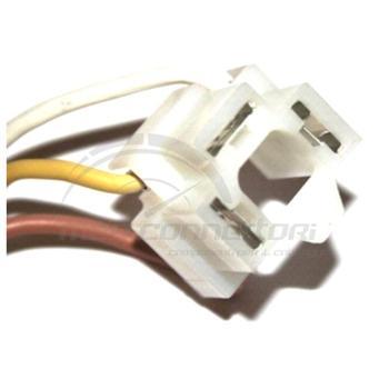 connettore cablato 2 vie p.f. per lampade H4