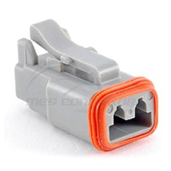 connettore serie AT 2 vie p.f. con sec. lock