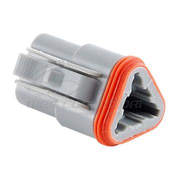 connettore serie AT 3 vie p.f. con sec. lock