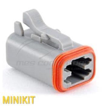 kit connettore  serie AT 4 vie p.f. con terminali e  sec. lock