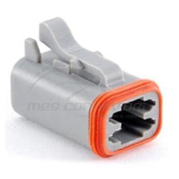 connettore  serie AT 4 vie p.f. con sec. lock