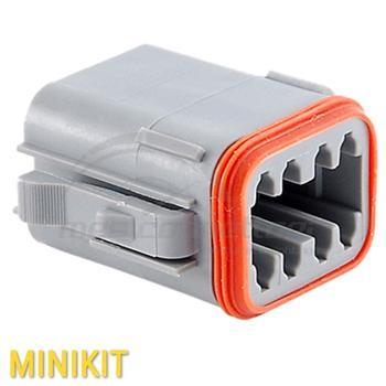 kit connettore serie AT 8 vie p.f. con con terminali e  sec. lock
