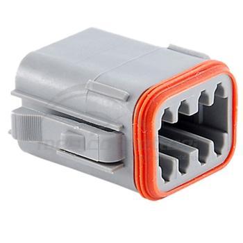 connettore serie AT 8 vie p.f. con sec. lock