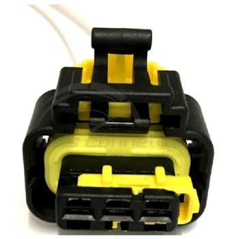 connettore cablato 3 poli p.f. MTA sec. lock GIALLO