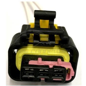 connettore cablato 3 poli p.f. MTA sec. lock ROSA