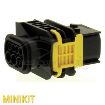 kit connettore MCP nero 7 vie misto p.m.  con corazza serie 1,5-2,8
