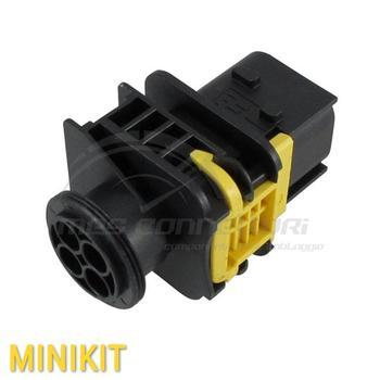 kit connettore nero 4 vie p.m.  con corazza serie MCP 2,8