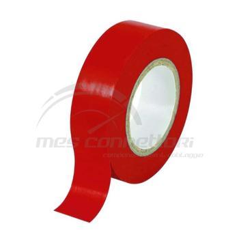 nastro pvc mm. 0,15 x 15 x 10 mt rosso