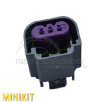 kit connettore  3 vie p.f. per lampade H13