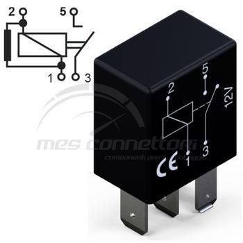 micro rele' 12V 30A con resistenza normalmente aperto