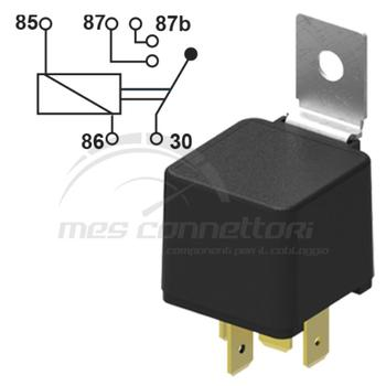 rele' 12 volt doppio contatto 2x15A (87-87B) staffa removibile