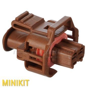 Kit connettore BOSCH COMPACT 2 vie p.f. colore marrone