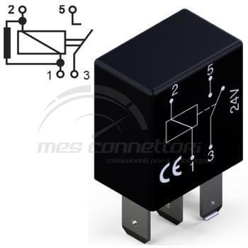 micro rele'  24V 10A normalmente aperto con resistenza