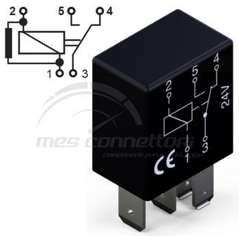 micro rele'  24V 20/10A in scambio con resistenza