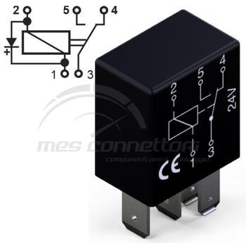 micro rele'  24V 10/5A  in scambio con diodo