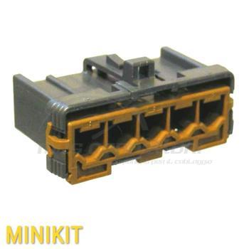 kit connettore serie 187-250 5 vie p.f. resistenze fiat
