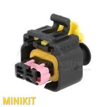 kit connettore MTA 2 vie p.f. con sec. Lock ROSA