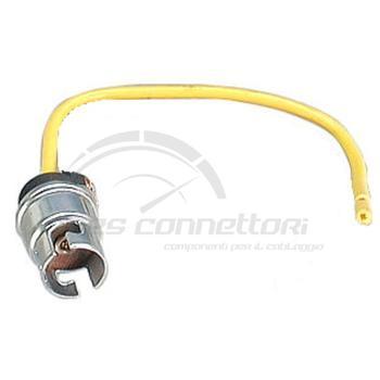 connettore cablato 2 vie p.f. per lampade innesto Ba9s