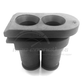 gommino in neoprene 2 fori 10mm + 10mm per scatola ADR Schlemmer