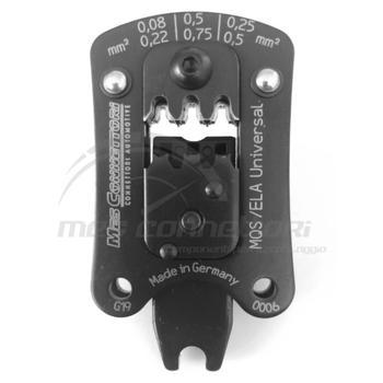 matrice per terminali MQS sealed con posizionatore sez. 0.08-0.75mmq