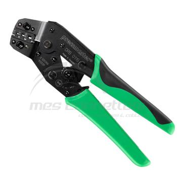 pinza a cricchetto per terminali non isolati sez. 0,1-1,5 mmq