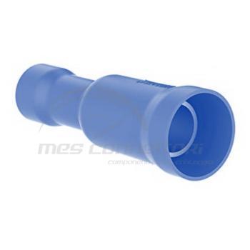 spina femmina preisolata blu diametro 4 mm