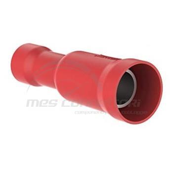 spina femmina preisolata rossa diametro 4 mm