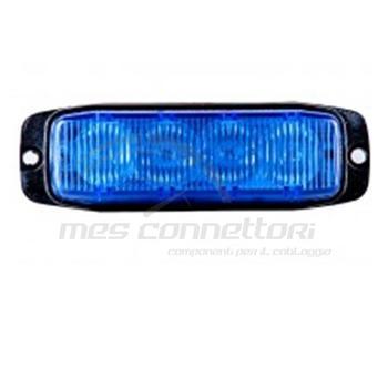 luce strobo 4 led blu 12-24volt