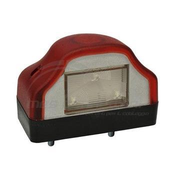 luce led targa con posizione rossa 12-24volt