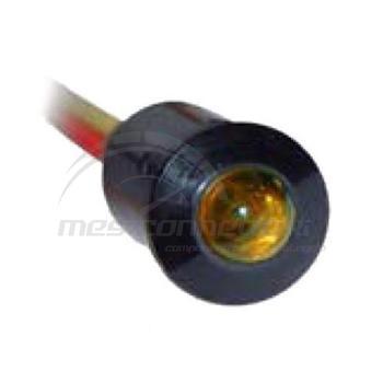 spia led luce fissa a incastro 12/24 volt arancio (foro 9.5mm)