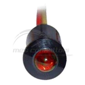 spia led luce fissa a incastro 12/24 volt rossa (foro 9.5mm)