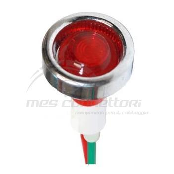 Spia a pannello led rosso 12V diametro 19 (foro 10mm)