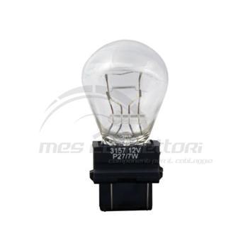 lampada con zoccolo plastica 27/7W