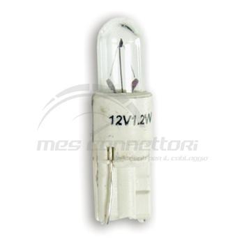lampada cruscotto 12V  1,2W base bianca