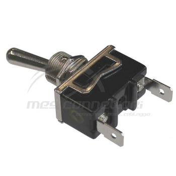 interruttore a levetta a faston on-off 12/24 volt