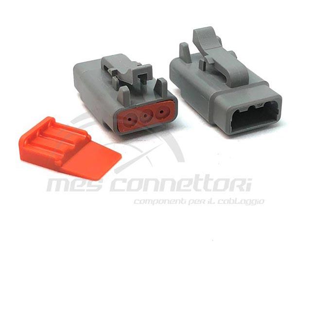 connettore serie ATM 3 vie p.f. sec. Lock