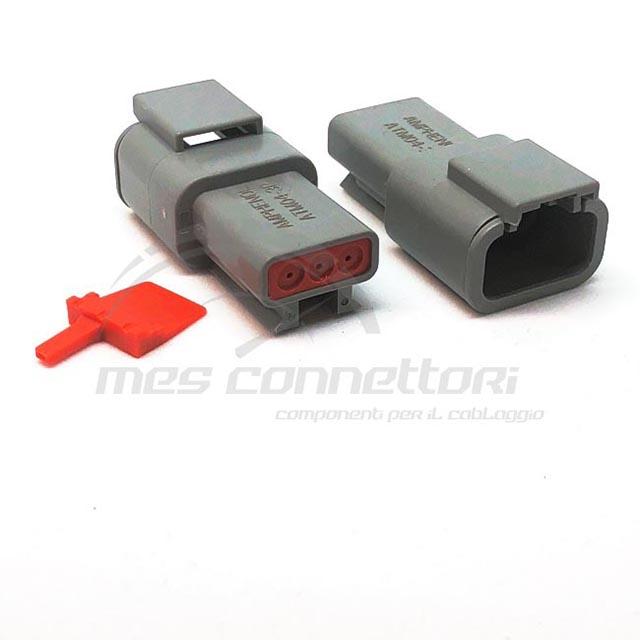 connettore  serie ATM 3 vie p.m. sec. Lock