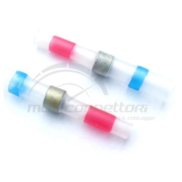 sdoppiatore termorestringente rosso/blu con stagno 0,5-2,5 mmq