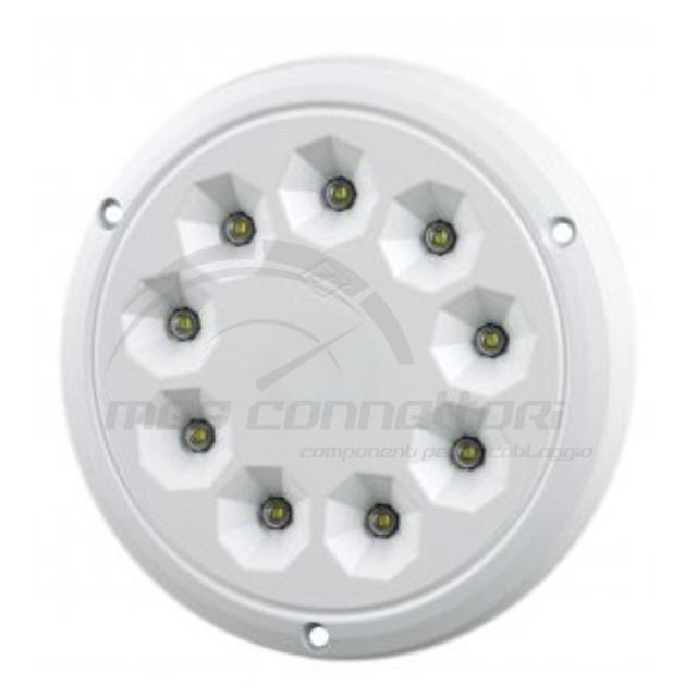 plafoniera circolare 9 led 12/24v 1650lm IP65 diametro 132mm