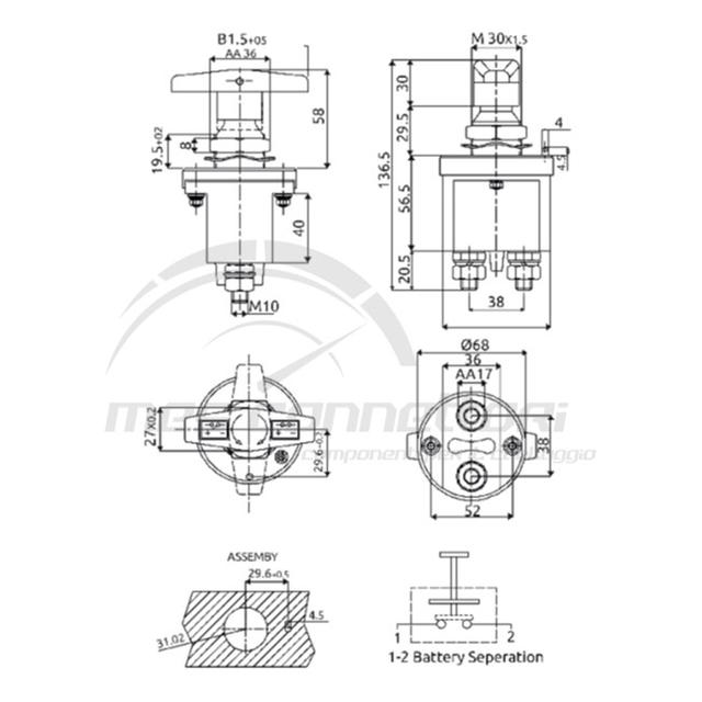 staccabatteria 250A (Intercamb. IVECO 4822229)
