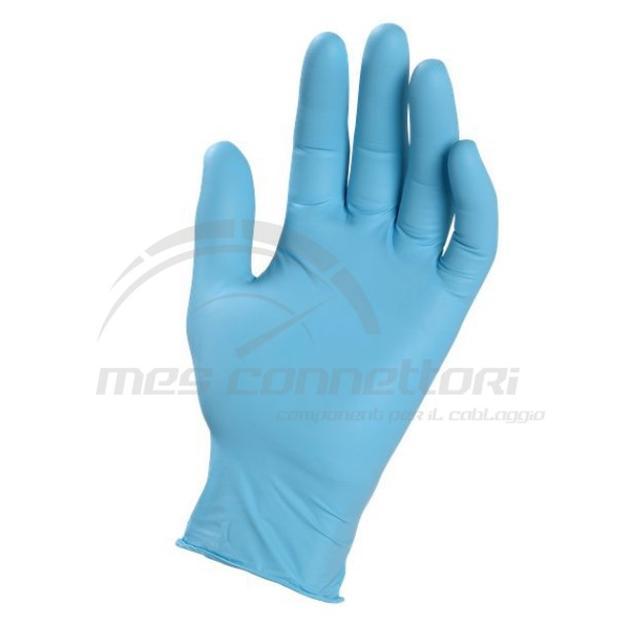 Guanto monouso in nitrile blu ambidestro TAGLIA L - non stertile -