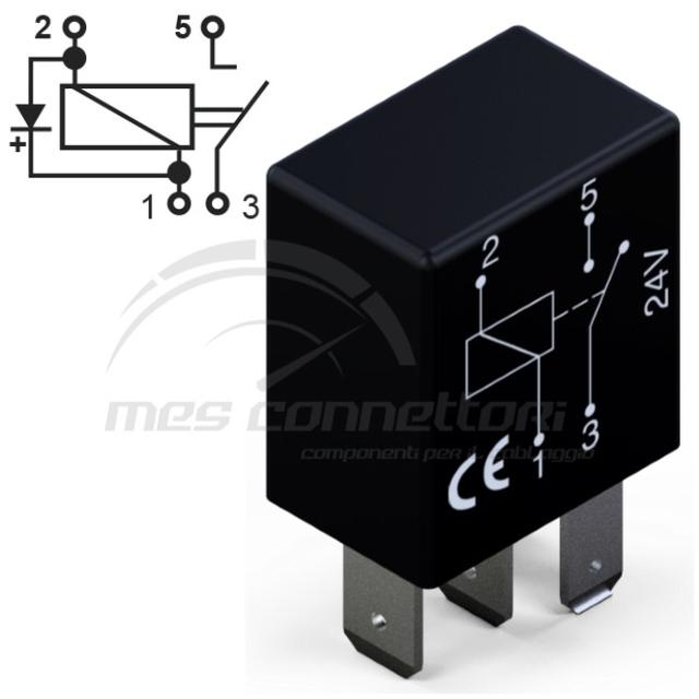 micro rele'  24V 10A normalmente aperto con diodo
