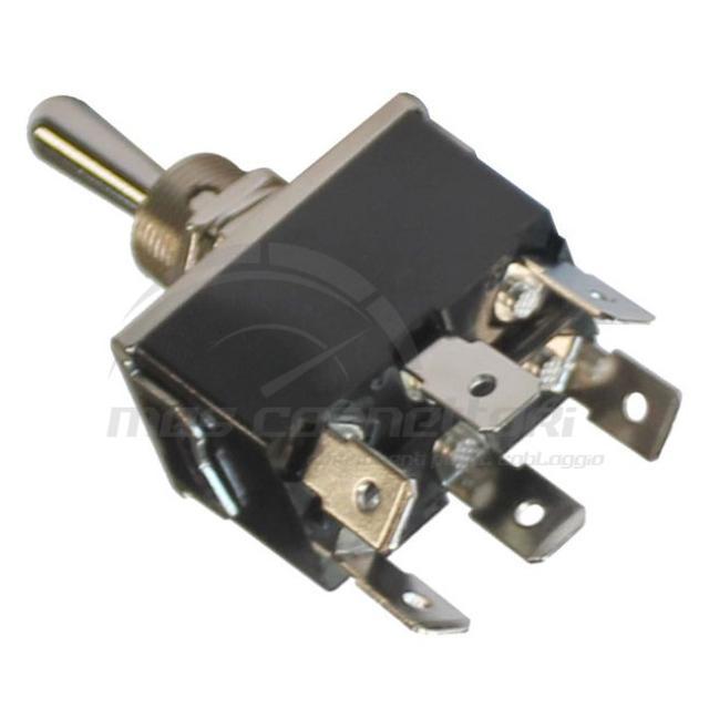 commutatore (on)-off-(on) 6 faston 12/24 volt