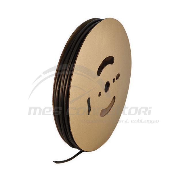 guaina termoretraibile nera diametro 6,4 mm termo restringente